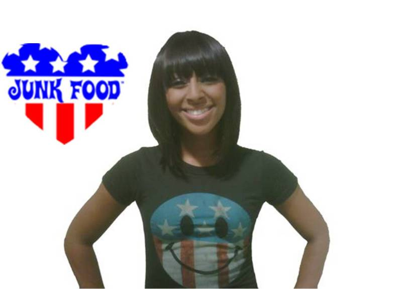 alexandra burke junk food t-shirt