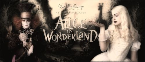 Alice in Wonderland 2010 johnny depp tim burton film anne hathaway