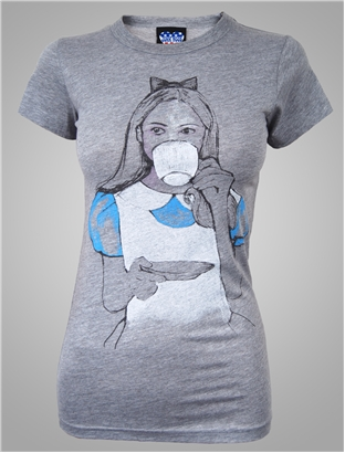 alice in wonderland junk food t-shirt