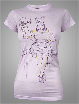 alice in wonderland junk food tee drink me