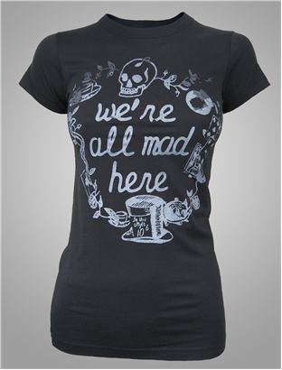 alice in wonderland junk food tee we're all mad here