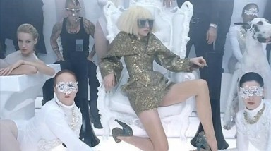 Lady Gaga 'Bad Romance' wearing Alexander McQueen