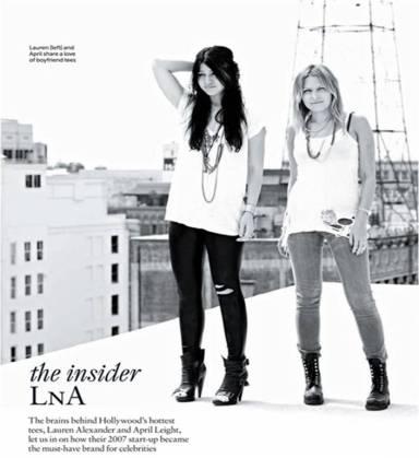 Lauren and April from LNA asos magazine