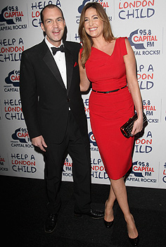 Lisa Snowdon Wears Black Halo On Red Capital Fm And Blue