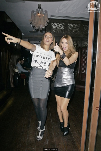 Frankie Sanford and The Saturdays celebrate her 21st birthday in wildfox