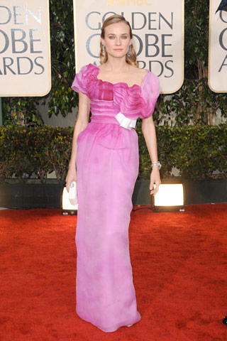 Golden Globes Diane Kruger, in Christian Lacroix Haute Couture