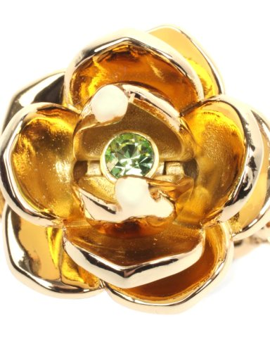 Kidada For Disney Couture 14ct Gold Plated Princess & The Frog Lotus Flower Ring £59