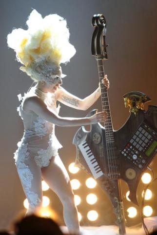 BRIT Awards 2010 Lady Gaga performance