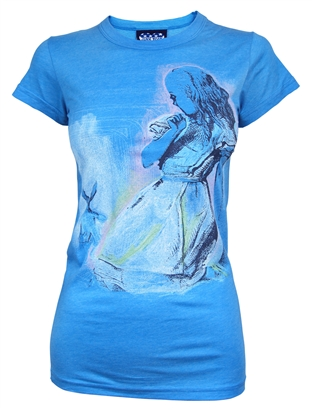 Alice in Wonderland Blue T Shirt by Junk Food Jukupop £24.99