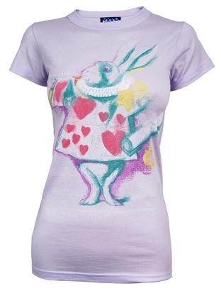 Alice in Wonderland Rabbit T Shirt by Junk Food Jukupop £24.99