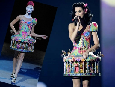 Katy Perry Manish Arora MTV merry go round dress
