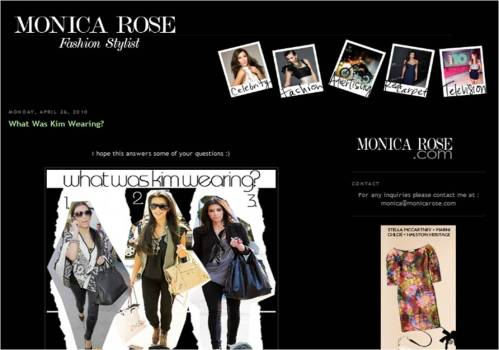 Kardashian Stylist on Monica Rose Stylist Kim Kardashian Blog Stalking