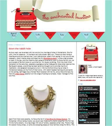 blog stalking sarah the enchanted hunters disney couture alice in wonderland tom binns