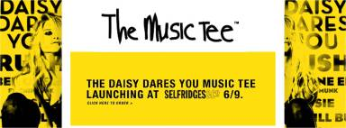 daisy dares you music tee launch party at selfridges london