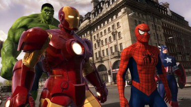 super heroes 4d at madam tussauds london marvel iron man the hulk spiderman