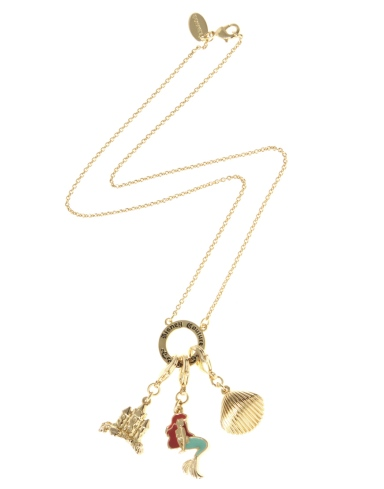 Disney Couture The Little Mermaid Sandcastle Removable Charms Necklace