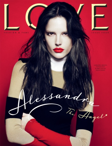 Alessandra Ambrosio LOVE magazine cover The Angel
