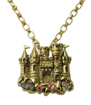 disney couture little mermaid castle necklace