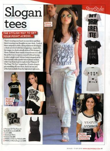 slogan tees heat magazine wildfox