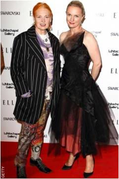 elle's 25th birthday party vivienne westwood and lorraine candy