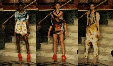 RJS by Richard Sorger catwalk with models from britains next top model