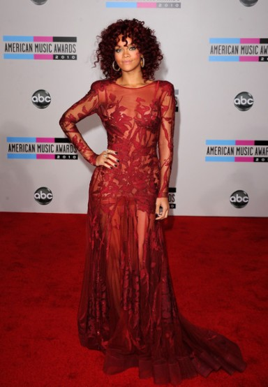 2010 American Music Awards Rihanna in Elie Saab
