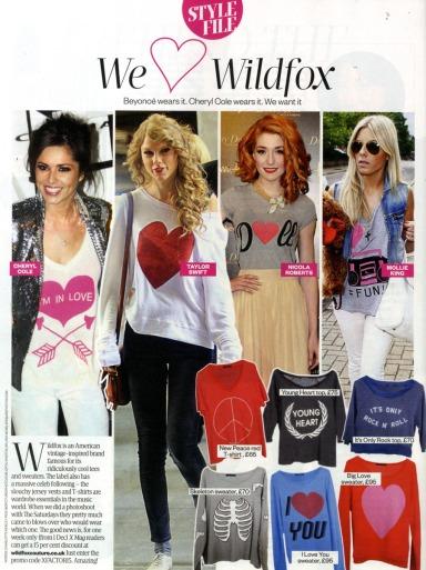 X factor Magazine Wildfox press