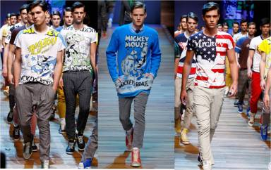 d&g+menswear+fall+2011+mickey+mouse+junk+food