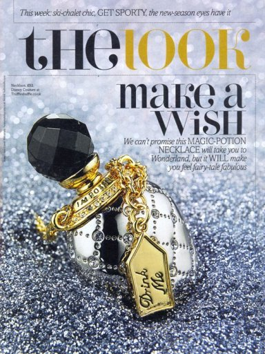 disney couture alice in wonderland drink me bottle inspiration collection in fabulous magazine