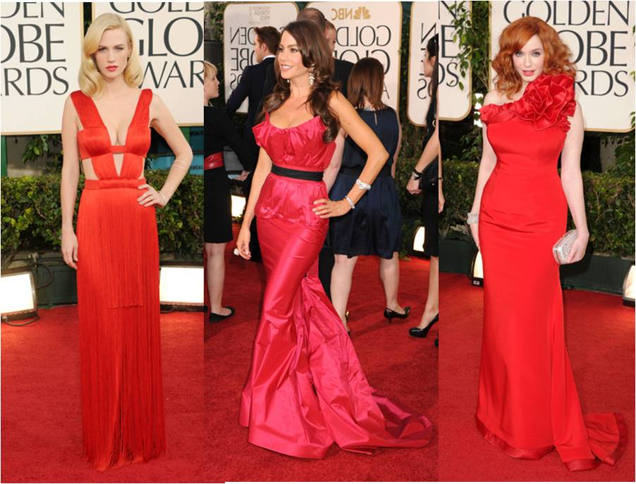 Golden Globes 2011 January Jones, Sofia Vergara and Christina Hendricks