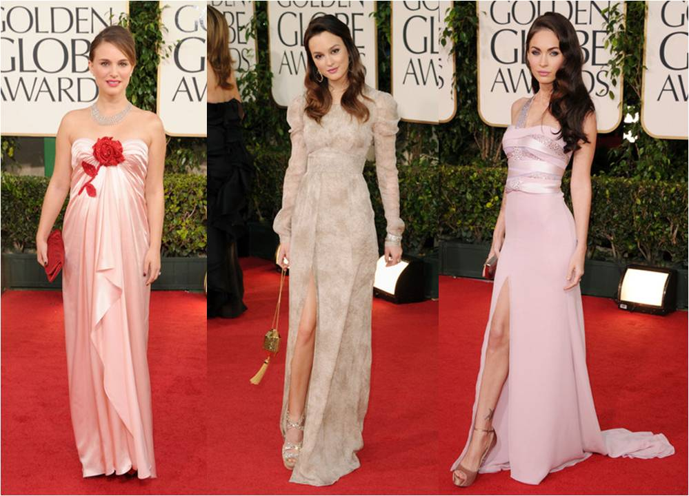 Golden Globes 2011 Natalie Portman, Leighton Meester and Megan Fox