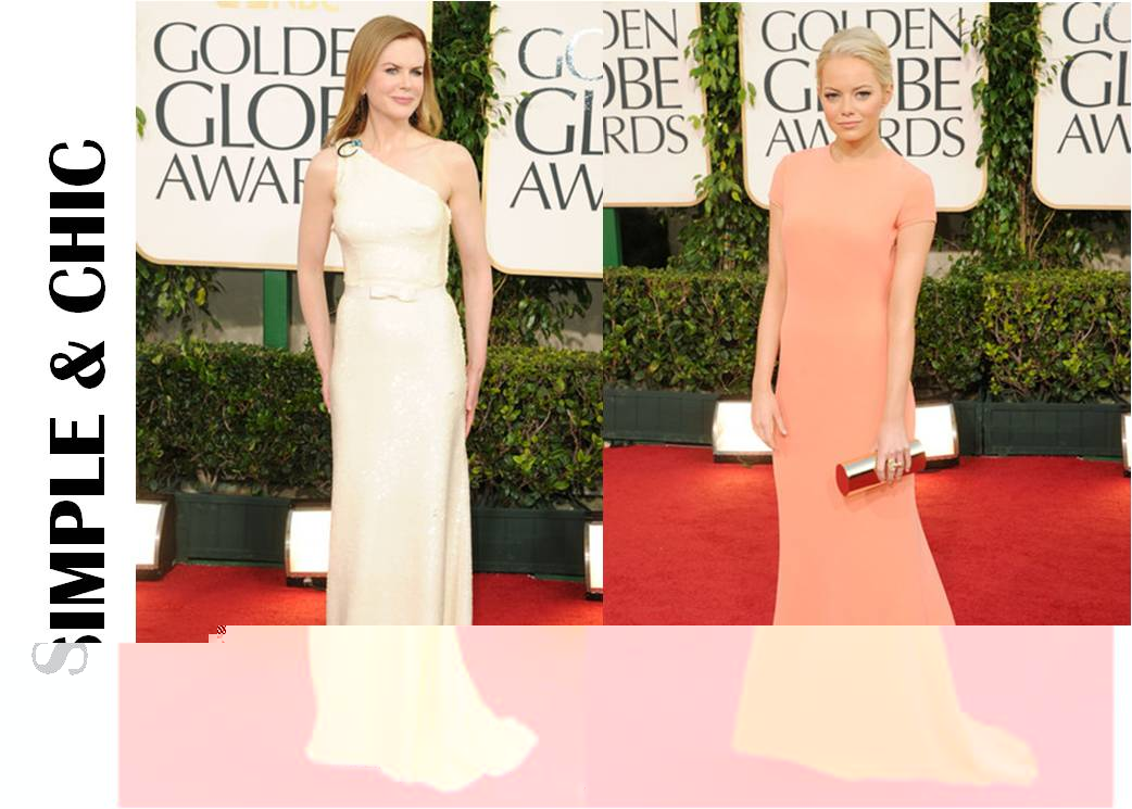 Golden Globes 2011 Nicole Kidman and Emma Stone
