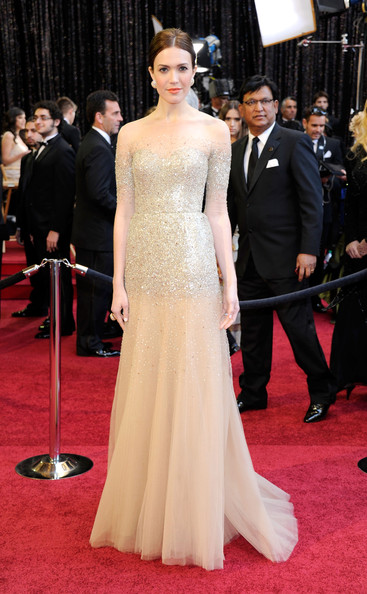 Academy Awards 2011 Oscars Tangled Disney Princess Mandy Moore in Monique Lhuillier