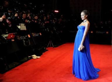 BAFTA+red+carpet+Jessica+Alba