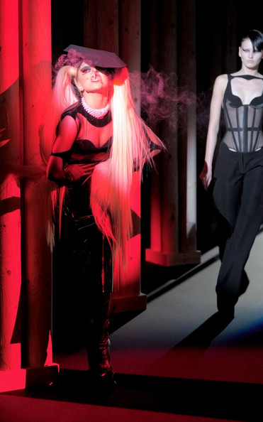 Lady+Gaga+Models+Thierry+Mugler+Nicola+Formichetti+paris fashion week aw 11