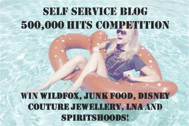Self Service blog 500000 hits competition - win wildfox lna disney couture spirithood junk food clothing