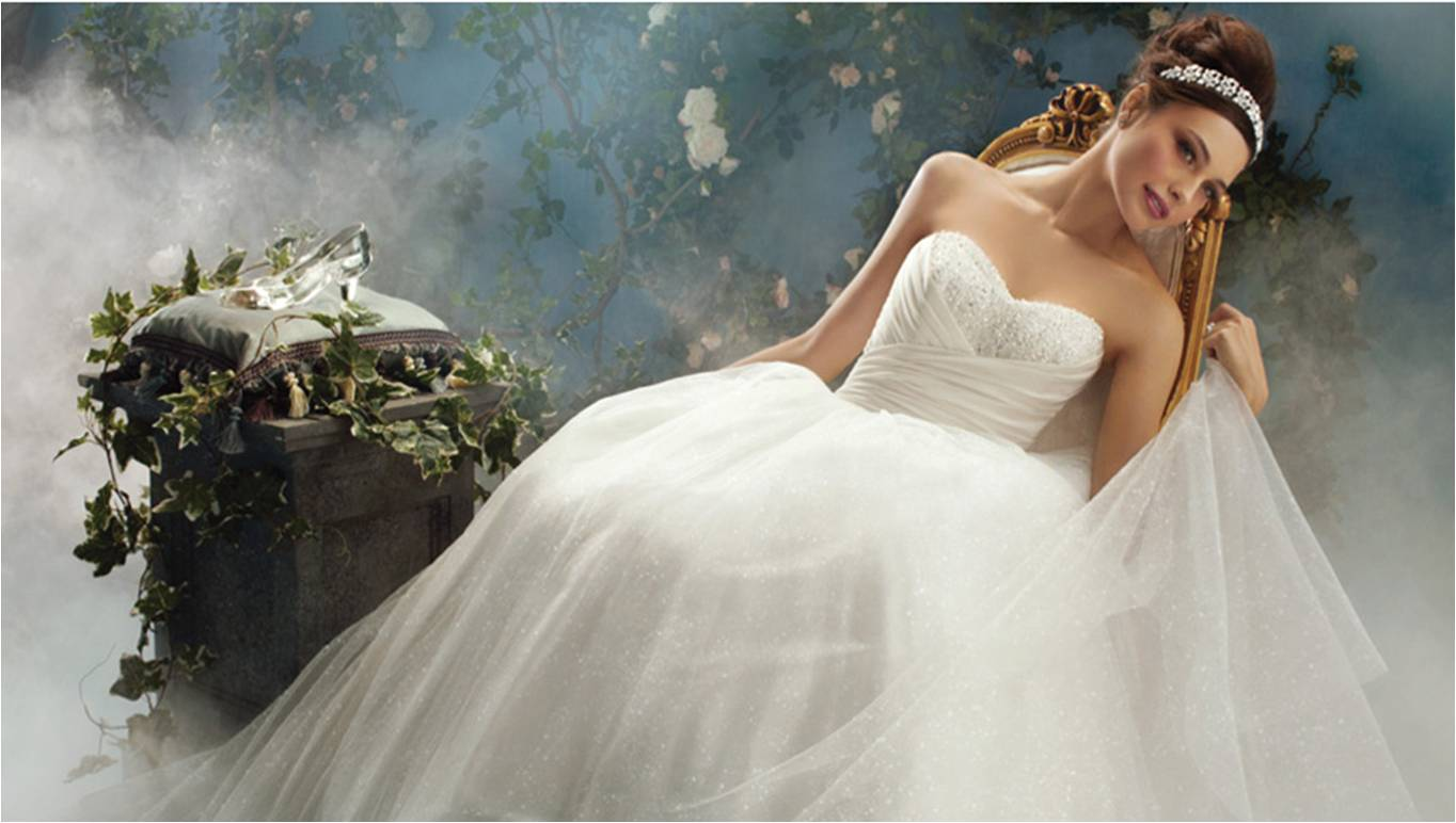 Wedding hairstyles fairy tale wedding dresses disney for Cinderella inspired wedding dress