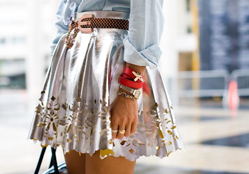Keepsake skirt Aimee Song of Style NYFW detail
