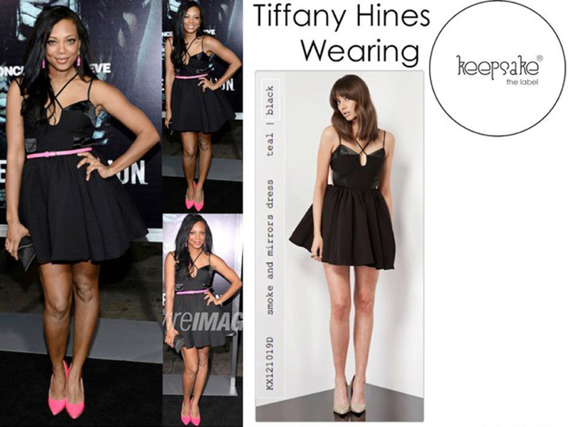 Tiffaney hines in the smoke and mirrors dress