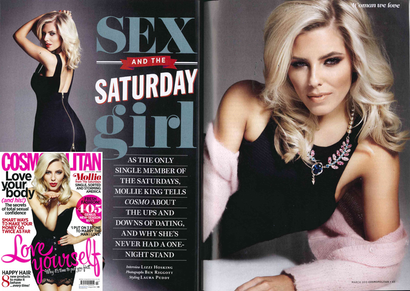 Cosmopolitan March 2013 Frankie distant dreamer crop top Finders keepers secret garden the saturdays