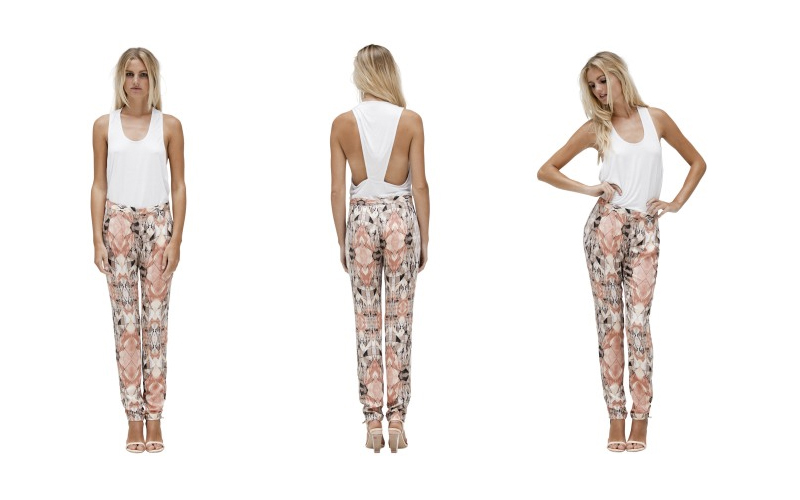 stylestalker bunny's day out trousers print free love pants