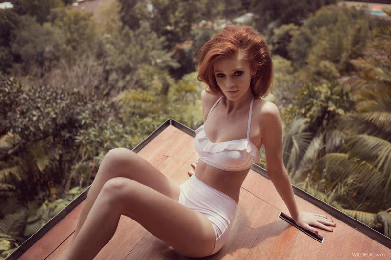 wildfox swim white bikini valance trend colour ss13