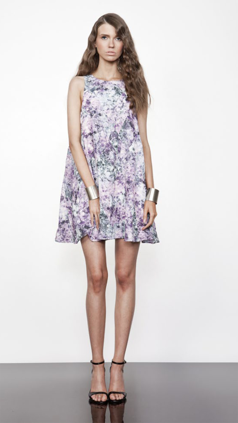 keepsake diamond lights lookbook sara dress crystal print