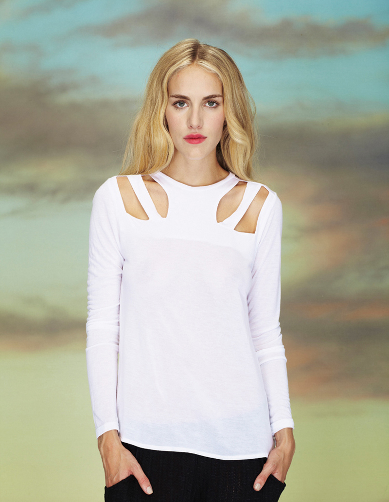 LNA spring 1 white top cutout trend colour ss13