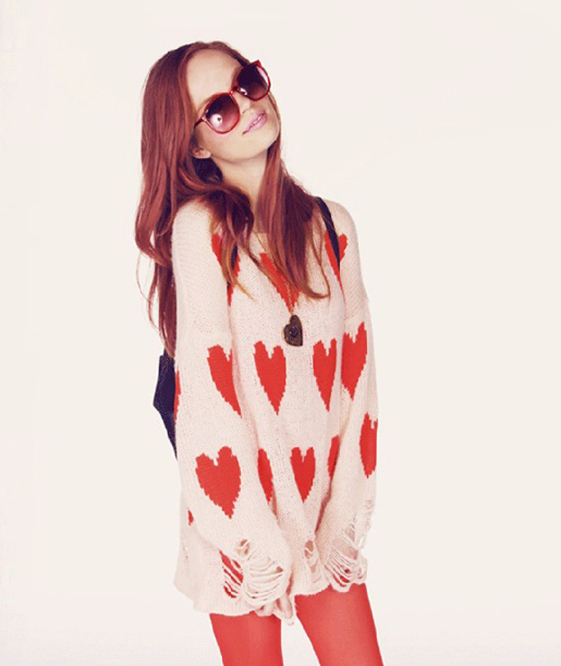 Wildfox All Over Love Lennon Sweater