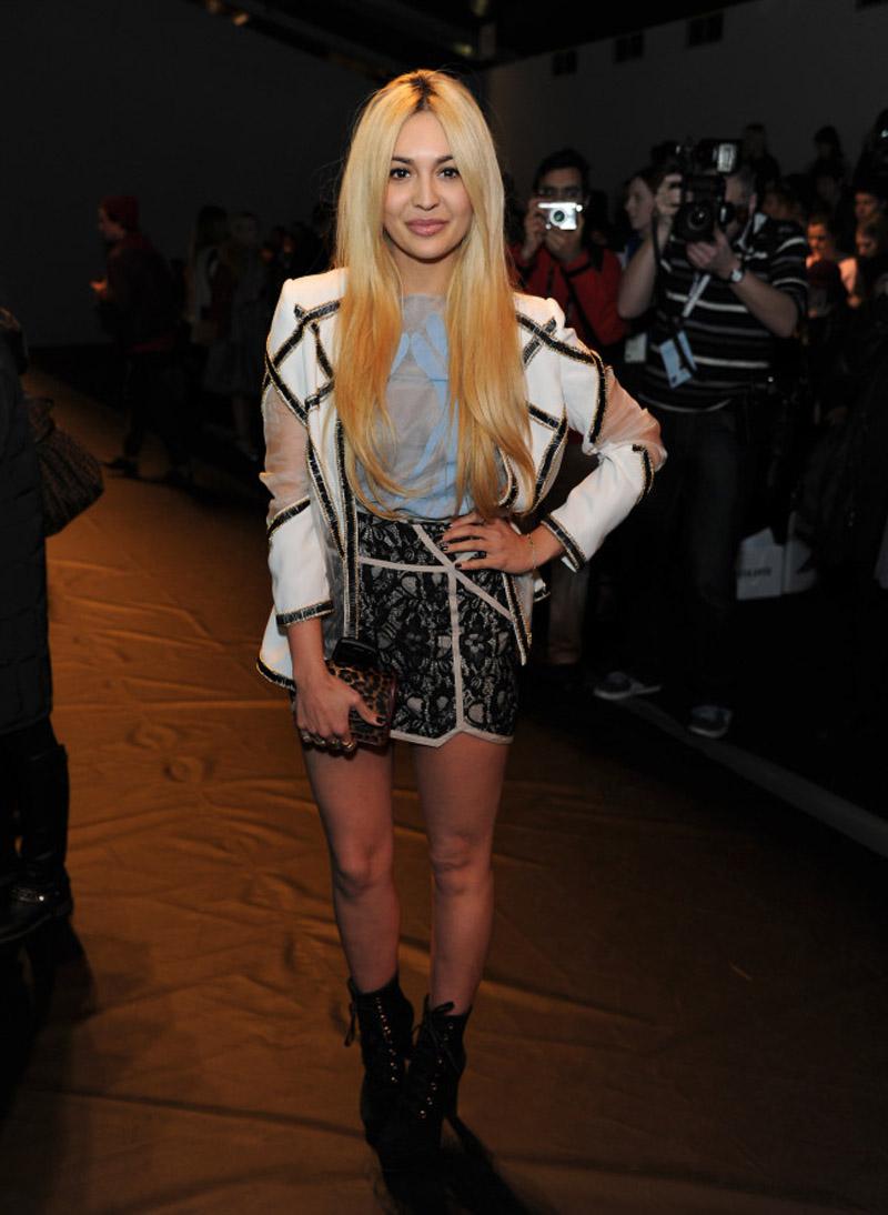 Zara Martin at Bora Aksu London Fashion Week AW13 Finders Keepers Skirt
