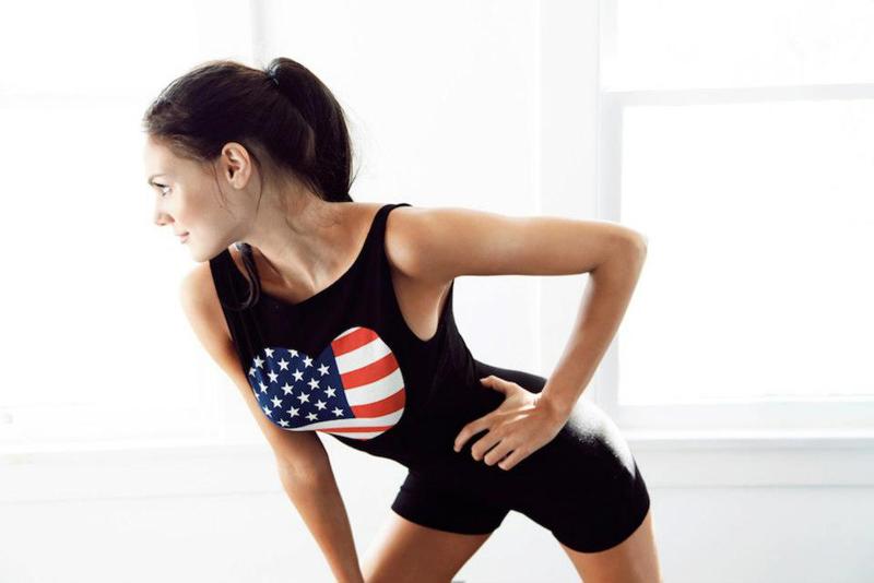 Wildfox Foxercise American Heart Fonda Bodysuit