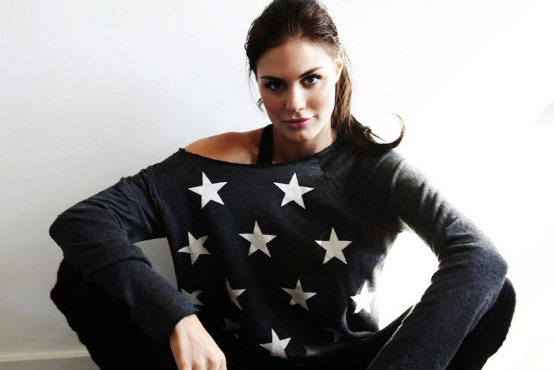 Wildfox Foxercise Jazzercise Stars Maniac Off the Shoulder Sweater and American Heart Maniac Leggings