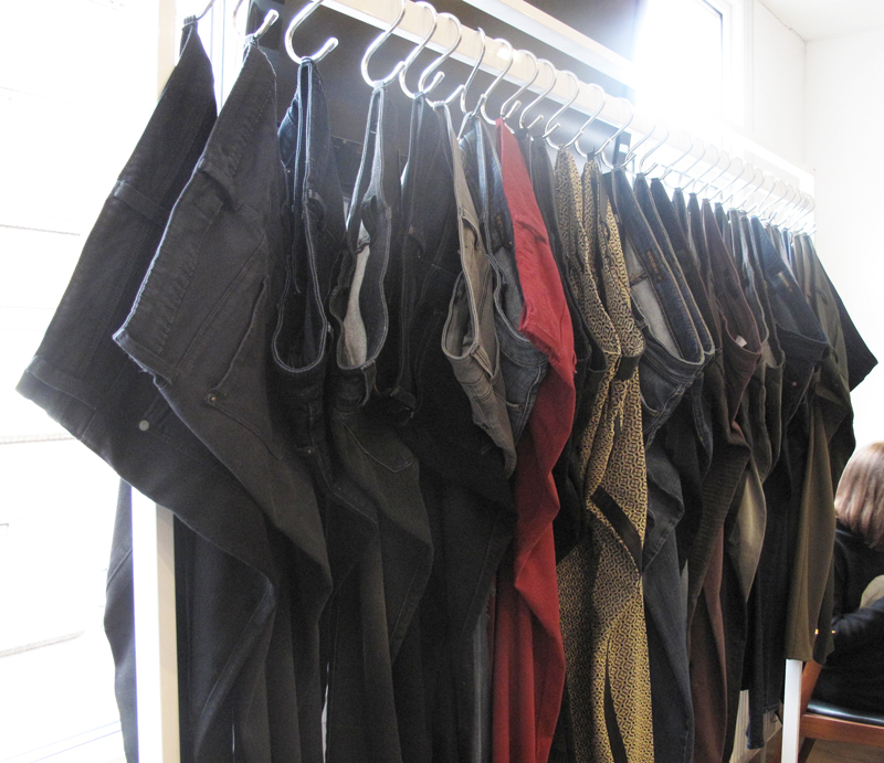 Dust PR Press Day AW13 Genetic Denim whole rail side view