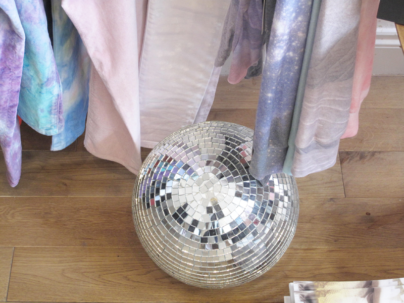 Dust PR Press Day AW13 Wildfox denim sparkling crystal disco ball